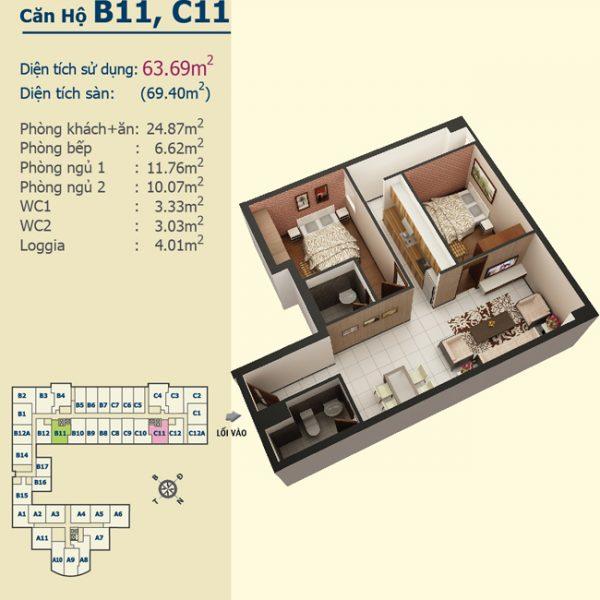 B11C11